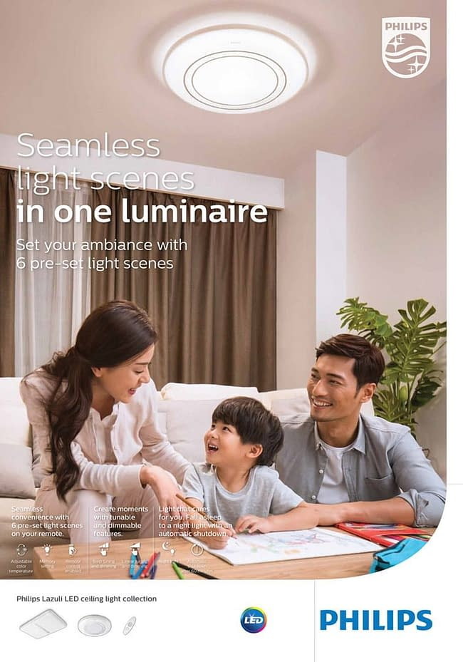 Advertising poster for Philips Lighting Lazuli collection. Photographed by Shanghai Photographer Philippe Roy, specialized in lifestyle Photography.